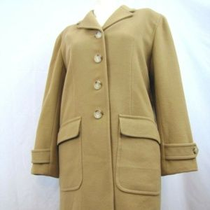 LRL Size 4 Wool Trench Overcoat Caramel Tan S / M